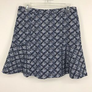 Women's Michael Michael Kors Blue White Mini Skirt